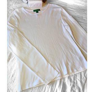 Ralph Lauren Basic Long Sleeve White Tee Size-Lge